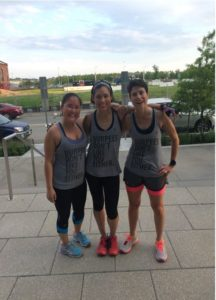 Yards boot camp Instructor Kelly Moyers with two of her boot camp champs!