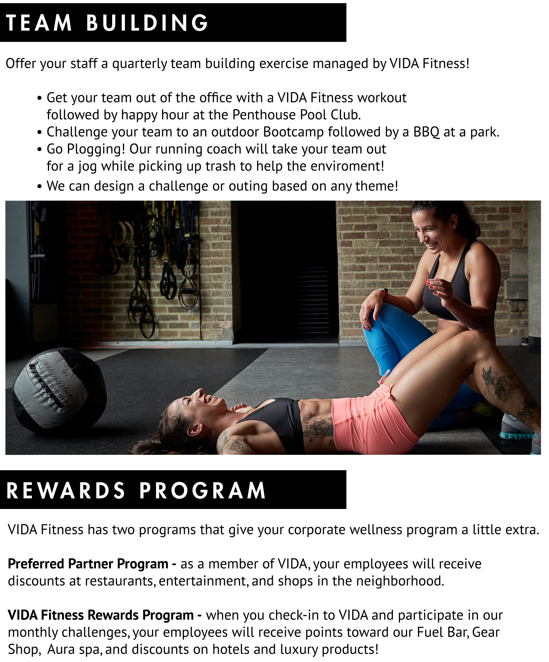 Corporate Wellness at VIDA Fitness -- Wearable Technology